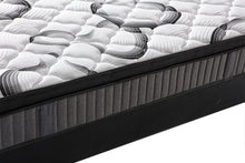 Load image into Gallery viewer, Super Firm 9 Zone Euro Top 24CM Pocket Spring Mattress Memory Foam Back Support
