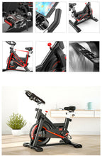 Load image into Gallery viewer, White Color Exercise Spin Bike Home Gym Workout Equipment Cycling Fitness Bicycle 8kg Wheels