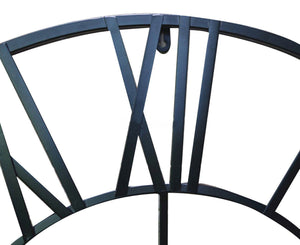 100cm Round Wall Clock Metal Industrial Iron Vintage French Provincial Antique