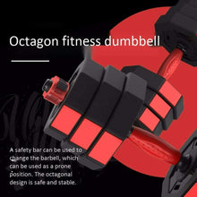 Load image into Gallery viewer, Adjustable Dumbbell Set Octagonal Anti-roll Dumbbell Barbell Fitness Training