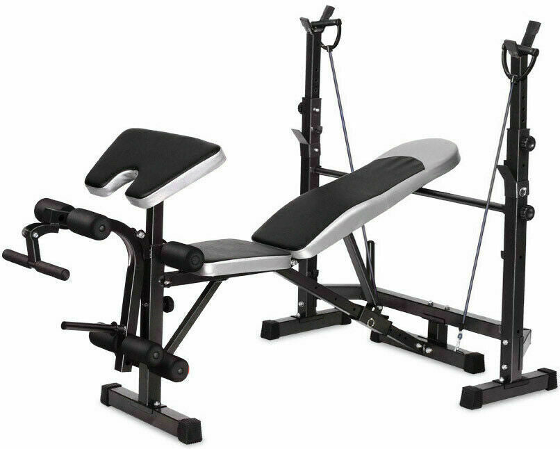 Fitness Multi Weight Bench Station Press Weights Equipment Curl Incline Home Gym