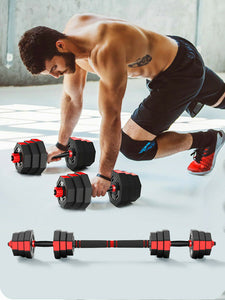 Adjustable Dumbbell Set Octagonal Anti-roll Dumbbell Barbell Fitness Training