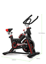 Load image into Gallery viewer, Black Color Exercise Spin Bike Home Gym Workout Equipment Cycling Fitness Bicycle 8kg Wheels