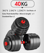 Load image into Gallery viewer, 40kg Adjustable Dumbbell Set Barbell Home GYM Exercise Weights Fitness