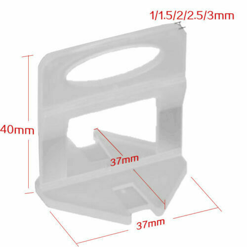 2.5mm Clips 4000pcs Tile Leveling System Spacer Tiling Tool Floor Wall