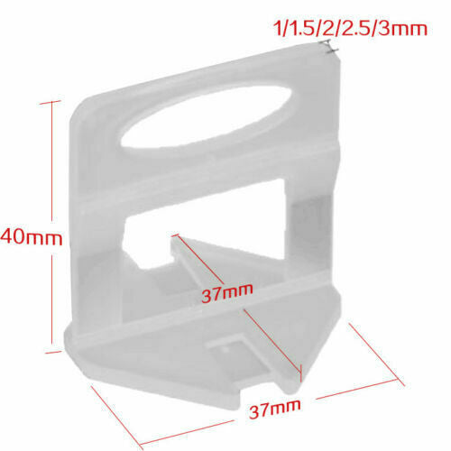 2.5mm Clips 600pcs Tile Leveling System Spacer Tiling Tool Floor Wall