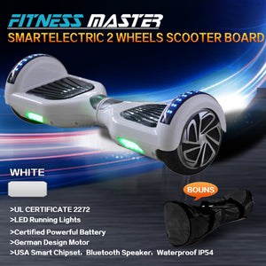 6.5inch Aluminium Wheel Self Balancing Hoverboard Electric Scooter Bluetooth Speaker LED Lights Waterproof Hover Board