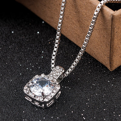 Rhinestone Crystal Pendant Necklace - Daryljr store