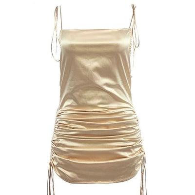 Sleek Ruched Bodycon Dress