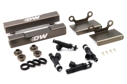 DeatschWerks Fuel Injectors 1000cc w/Top Feed Conversion Fuel Rails - 04-06' STi / 05-06' Legacy GT
