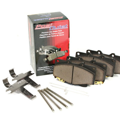 PosiQuiet Rear Brake Pads w/ Shims and Hardware - 09-17 Audi - 105.13860