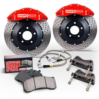 StopTech 08-10 Audi S5 Front BBK w/ Yellow ST-60 Calipers Slotted 380x32mm Rotors Pads Lines - 83.114.6800.81