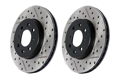 StopTech Power Slot 09-10 Audi A4/A4 Quattro / 08-10 A5 / 10 S4 Front Right Drilled & Slotted Rotor - 127.33123R