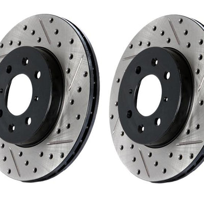 StopTech Power Slot 09-10 Audi A4/A4 Quattro / 08-10 A5 / 10 S4 Rear Right Drilled & Slotted Rotor - 127.33127R