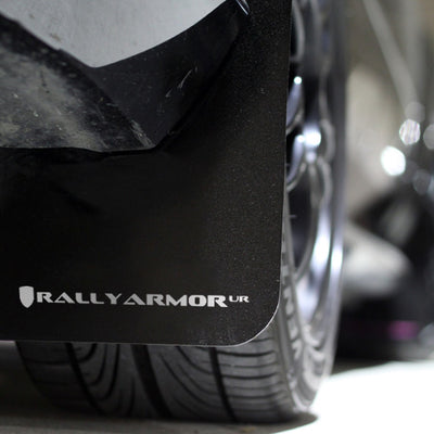 Rally Armor 12-15' Subaru Impreza 5dr Hatch/4dr Sedan UR Black Mud Flap w/ White Logo