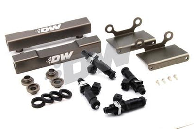 DeatschWerks Fuel Injectors 1200cc w/Top Feed Conversion Fuel Rails - 04-06' STi / 05-06' Legacy GT