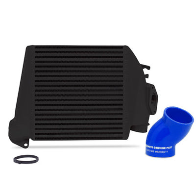 Mishimoto 08-14 Subaru WRX Top-Mount Intercooler Kit - Powder Coated Black & Blue Hoses
