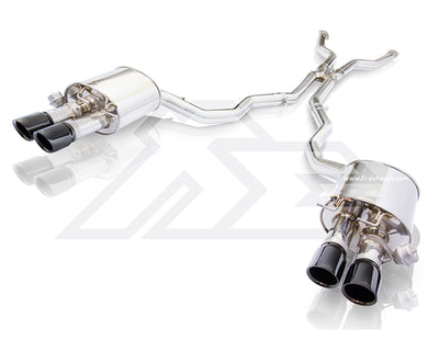 Fi Exhaust Valvetronic Muffler w/ Quad Tips Mid X-Pipe Front Pipe - BMW M5 E60 (05-10')