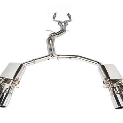 iPE Stainless Steel Valvetronic Exhaust System w/ OBD2 with Light Sensor and Polished Tips - Audi S4 B8 / B8.5 (09-16')