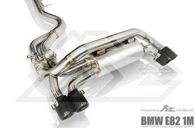 Fi Exhaust Front and Mid Pipe Valvetronic Muffler w/ Quad Tips - BMW 1M E82 (11-12')
