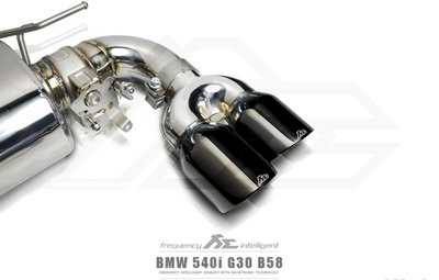 Fi Exhaust Front and Mid Pipe Valvetronic Muffler w/ Dual Tips - BMW 540i G30 (17-20')