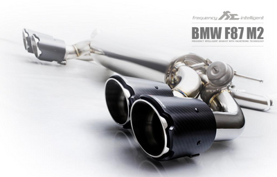 Fi Exhaust Front and Mid Pipe Valvetronic Muffler w/ Quad Tips - BMW M2 F87 (15-17')