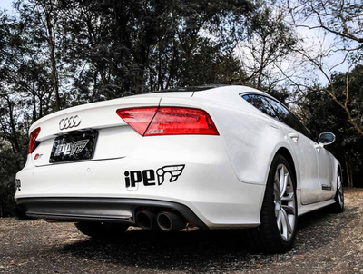 iPE Stainless Steel Valvetronic Exhaust System w/ Remote and Polished Tips - Audi S6 / S7 (13-17')