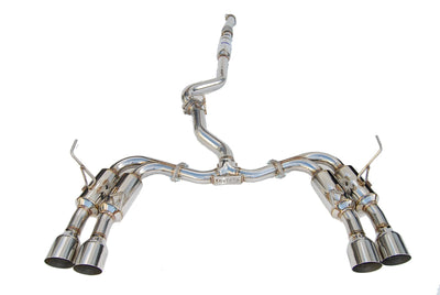 Invidia R400 Gemini Cat-Back Exhaust w/ Stainless Steel Tips - Subaru WRX / STi Sedan 2011-2014