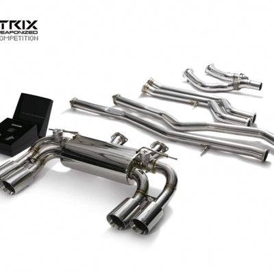 ARMYTRIX Stainless Steel Valvtronic Quad Exhaust (Chrome Tips) - F87 M2 / M2 Competition