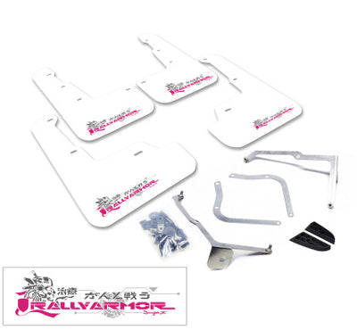 Rally Armor 11-14 Subaru WRX (Hatch Only) UR White Mud Flap w/ Pink BCA Logo