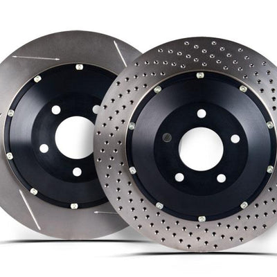 StopTech 07-08 Audi RS4 AeroRotor 2pc Drilled Front Rotor (Pair) - 81.113.9921