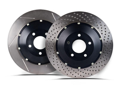 StopTech 07-09 Audi RS4 Front Slotted Bare Iron 365x34mm Aero-Rotors Kit (Pair) - 81.113.9911