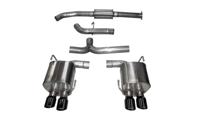 Corsa 2015 Subaru WRX Cat Back Exhaust, Black Quad 3.5in Tips *Sport* - 14857BLK
