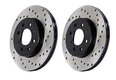 StopTech Drilled Front Left Cryo Sport Rotor - 10-12 Audi S4 & 08-11 Audi S5