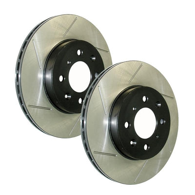 Stoptech Sport Slotted Front Rotors - 02-08' Subaru WRX
