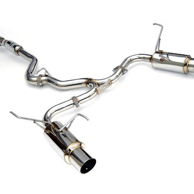 Invidia N1 Dual Cat-Back Exhaust w/ Stainless Steel Tips - Subaru WRX Sedan 08-14', STi Sedan 11-14', Forester XT 09-14'