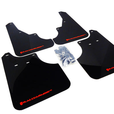 Rally Armor 09-13' Subaru Forester UR Black Mud Flap w/ Red Logo