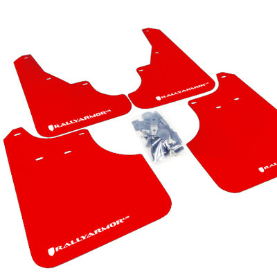 Rally Armor 09-13' Subaru Forester UR Red Mud Flap w/ White Logo