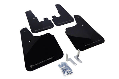 Rally Armor 10-13' Subaru Outback UR Black Mud Flap w/ Grey Logo