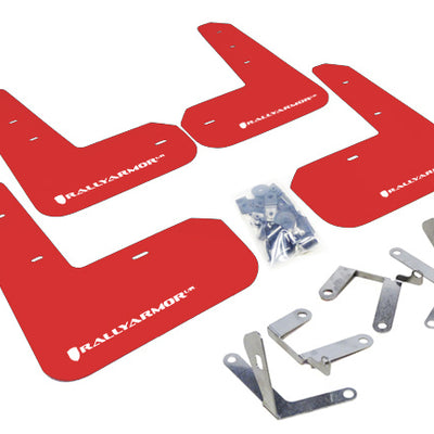 Rally Armor 13+ Subaru BRZ / 13+ Scion FR-S UR Red Mud Flap w/ White Logo