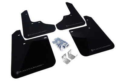 Rally Armor 1993-2001 Subaru Impreza UR Black Mud Flap w/ Grey Logo