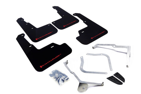 Rally Armor 15+ Subaru WRX & STi Sedan Only UR Black Mud Flap w/ Red Logo