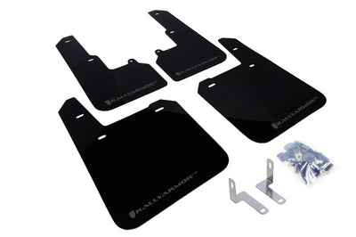 Rally Armor 2015+ Subaru Outback UR Black Mud Flap w/ Grey Logo