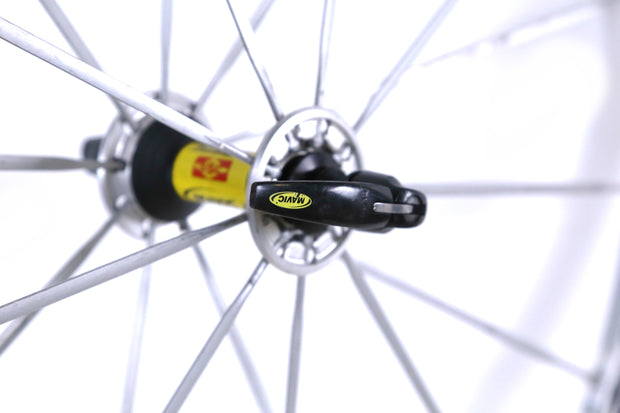 Mavic Ksyrium SL Road BIke Front Wheel 700c Clincher Rim Brake Silver QR