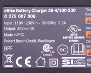 Bosch Standard Charger 36-4 / 100-230 36V 4A e-Bike Battery Charger
