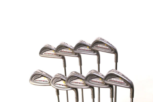 Tommy Armour 845s Silver Scot 3-9, PW, SW Iron Set RH Steel Shafts Regular Flex