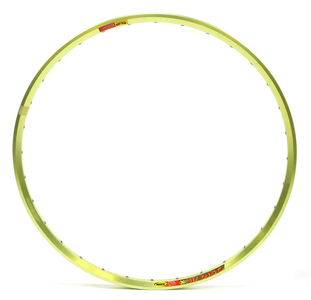 "Mavic X317 Single Disc Aluminum Clincher Hoop Mountain Bike Rim 26"" 32H Anodized"