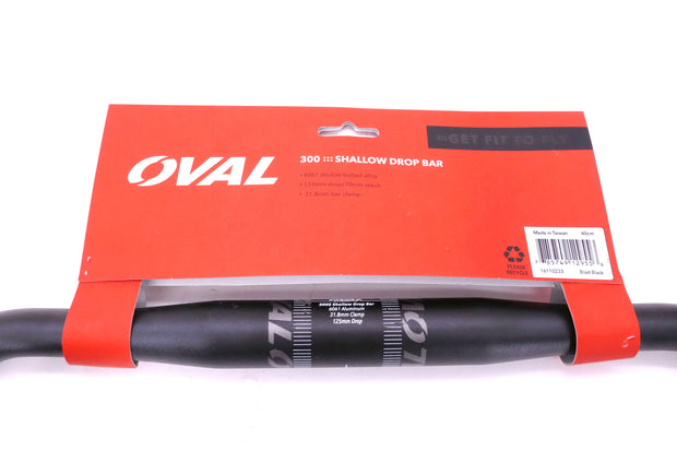 Oval Concepts 300s Shallow Road Bike Drop Handlebar 31.8mm Clamp 40cm width NEW