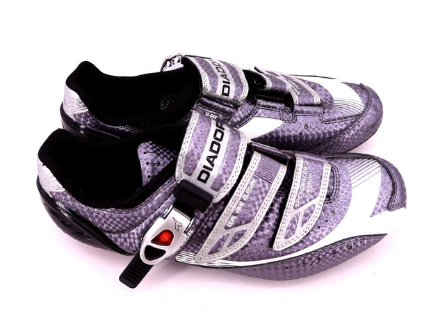 Diadora Speed Racer 2 Carbon Road Cycling Shoes Silver Men's EU 41 / US 7.5