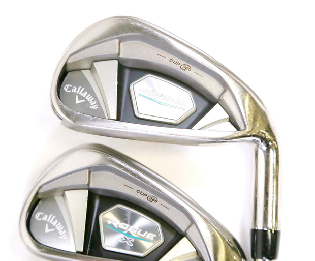 Callaway Rogue X 4-9, AW, PW Iron Set RH Max KBS Steel Shaft Regular Flex